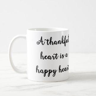 A thankful heart is a happy heart Mug