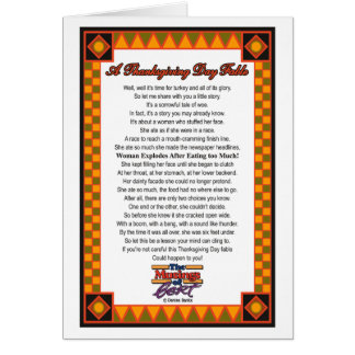 A Thanksgiving Day Fable  Card