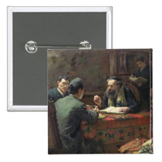 A Theological Debate, 1888 2 Inch Square Button