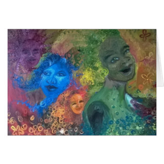 A Thousand Sisters Laughing Notecard