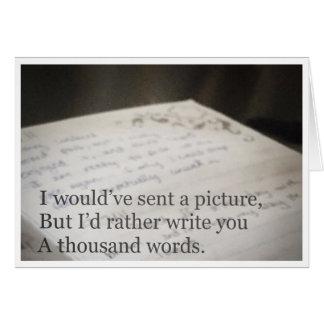 A Thousand Words Card