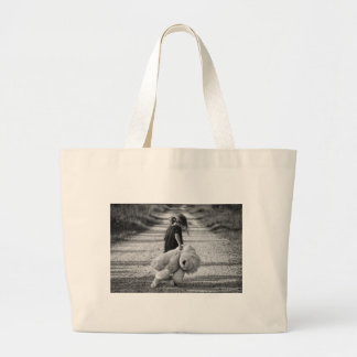 A time for a hug large tote bag
