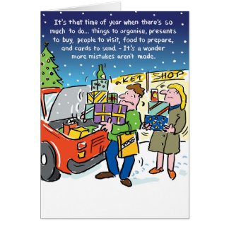 A Time for Mistakes. Personalised Christmas Card