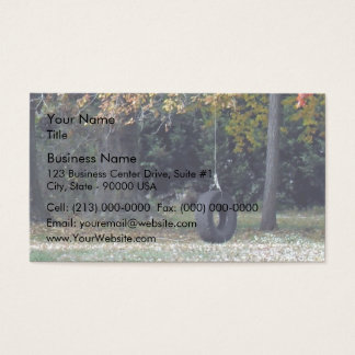 A Tire Swing Business Card
