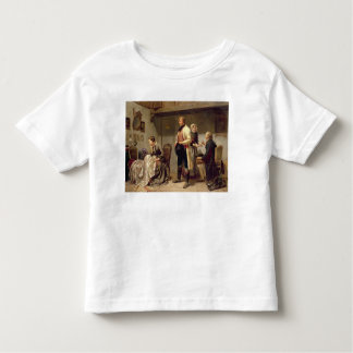 A toast to the engaged couple toddler t-shirt