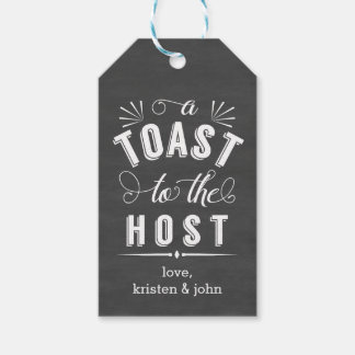 A Toast to the Host | Vintage Chalkboard Wine Pack Of Gift Tags