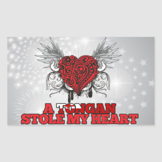 A Tongan Stole my Heart Sticker