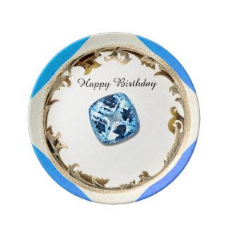 A Topaz Birthday Plate