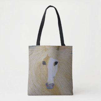 A Tote Bag with Palomino Head