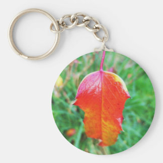 A Touch of Autumn Basic Round Button Keychain