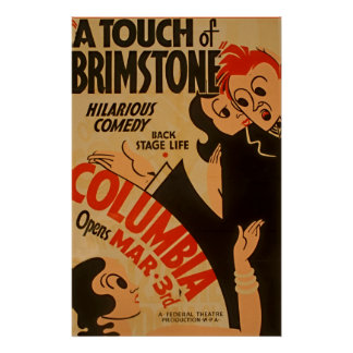 A Touch of Brimstone Vintage Poster
