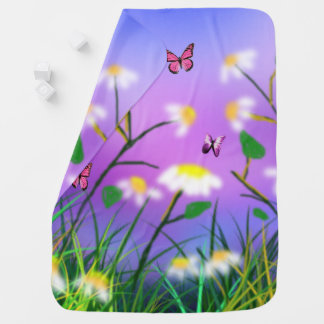 A Touch Of Spring, Double Side Snugly Baby Blanket