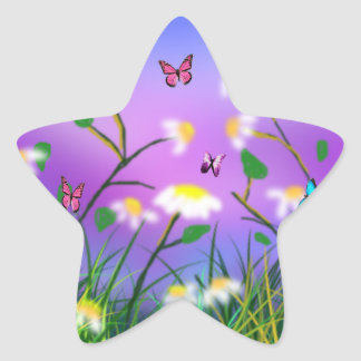 A Touch Of Spring,  Star Stickers. Star Sticker