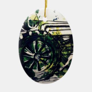 A Tractor! Ceramic Ornament