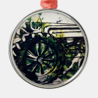 A Tractor! Metal Ornament