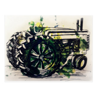 A Tractor! Postcard