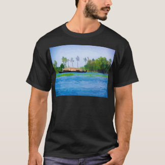A traditional Houseboat in Kerala T-Shirt