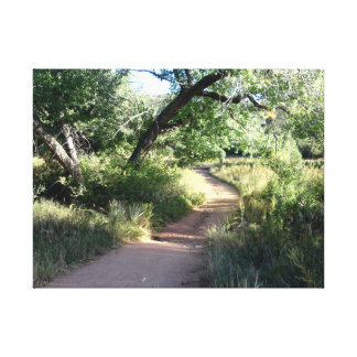A trail in the green canvas print