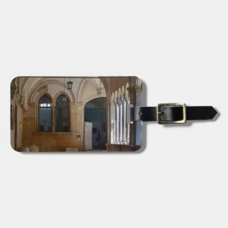A Tranquil Monastery Cloister in Dubrovnik Luggage Tag