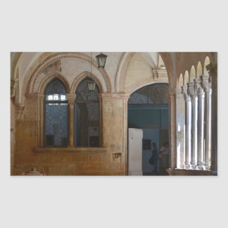 A Tranquil Monastery Cloister in Dubrovnik Sticker