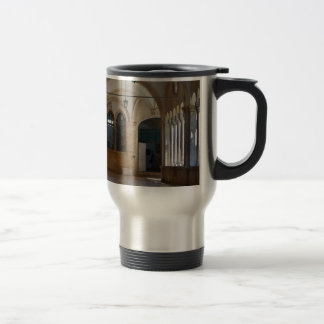A Tranquil Monastery Cloister in Dubrovnik Travel Mug