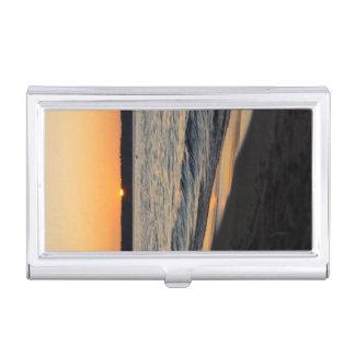 A Traverse Sunset Business Card Holder