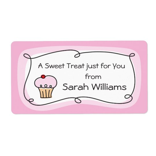 A treat for you personalized kitchen label shipping label