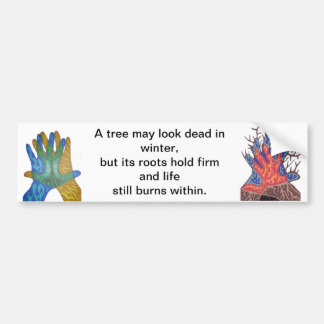 A Tree in Winter Bumper Sticker