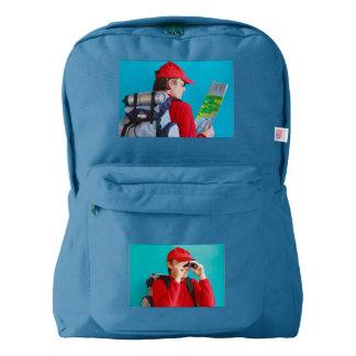 a trekker on American Apparel™ Backpack, Backpack