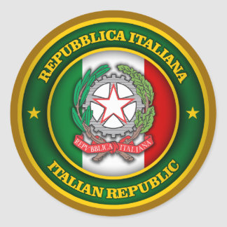 A Tribute to Italy Round Sticker
