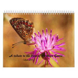 A tribute to the flora of Northern Greece Calendar