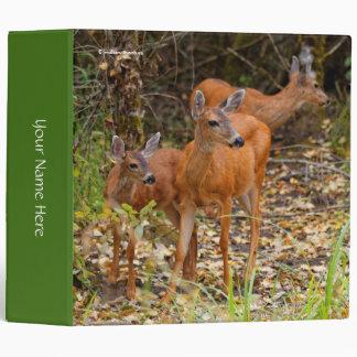 A Trio of Black-Tailed Deer 3 Ring Binder