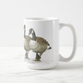 A trio of Canada Geese mug