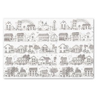 A trip through doodle village - tissue paper