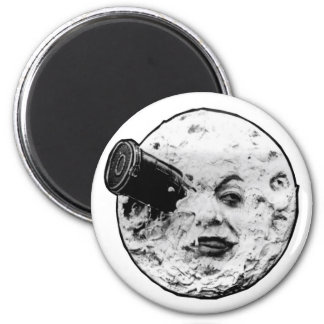 A Trip to the Moon 2 Inch Round Magnet
