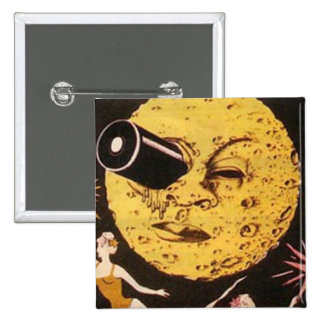 A Trip to The Moon Movie Poster 2 Inch Square Button