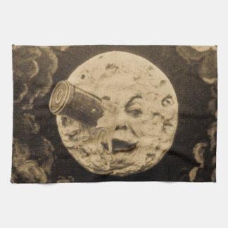 A Trip to the Moon (Sepia) Hand Towel