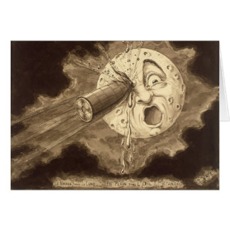 A Trip to the Moon Vintage Drawing Card