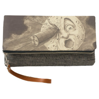 A Trip to the Moon Vintage Drawing Clutch
