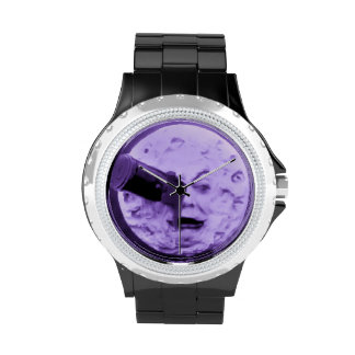A Trip to the Moon Vintage Movie Purple Hazed Wristwatch