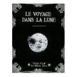 A Trip to the Moon Vintage Retro French Cinema Postcard