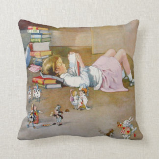 A Trip To Wonderland Throw Pillow