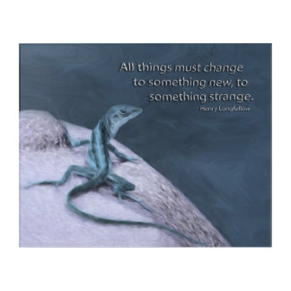 A Trippy Looking Teal Anole Lizard Acrylic Print