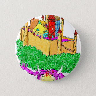 A troll and a castle 2 inch round button