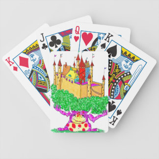 A troll and a castle bicycle playing cards
