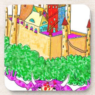 A troll and a castle coaster