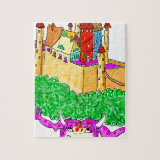 A troll and a castle jigsaw puzzle