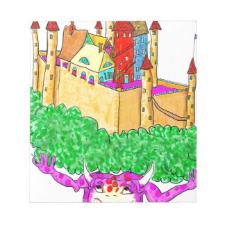 A troll and a castle notepads