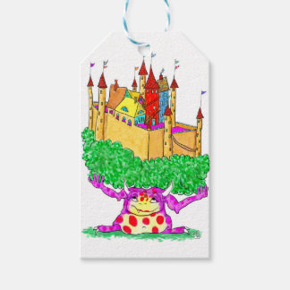 A troll and a castle pack of gift tags