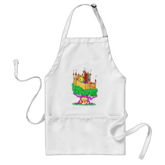 A troll and a castle standard apron